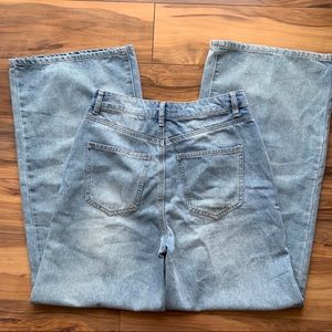 High rise wide legs jeans